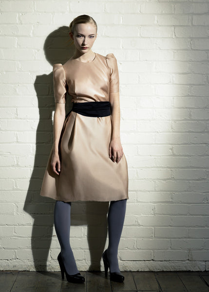 La Petite S***** nude satin dress SS07