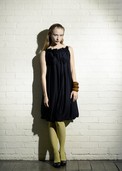 Black pleated dress by La Petite S***** SS07