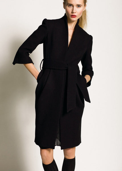 La Petite S***** AW09 sharp tailored coat in black