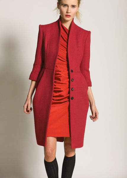 La Petite S***** AW09 tailored coat with red dress