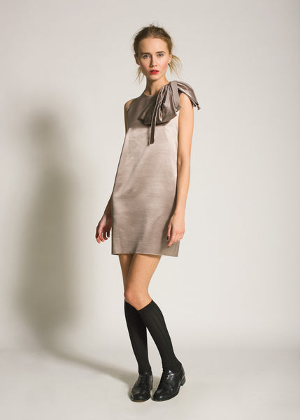 La Petite S***** AW09 pearl coloured satin shift dress