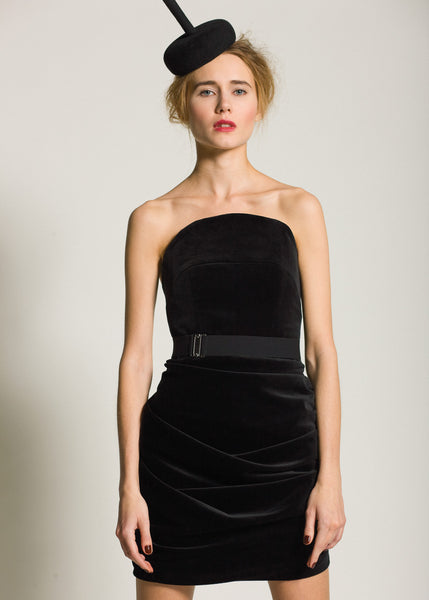 La Petite S***** AW09 black velvet dress