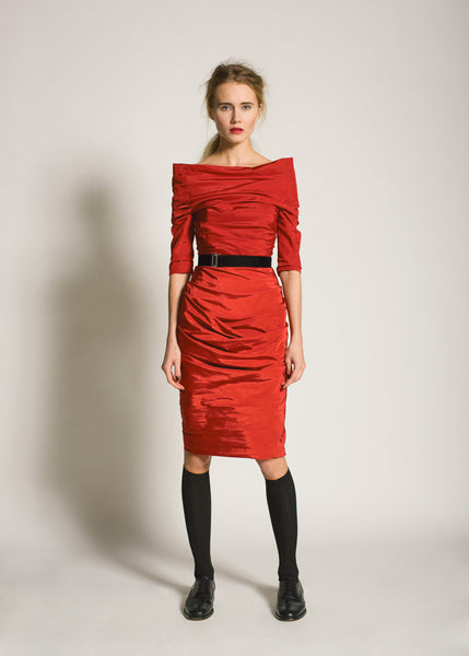 La Petite S***** AW09 red taffeta dress with sleeve