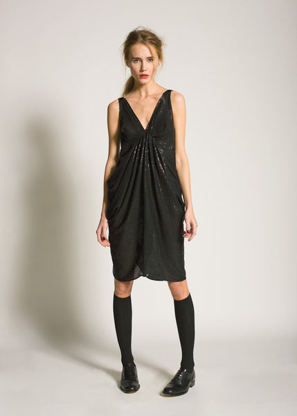 La Petite S***** AW09 black draped dress