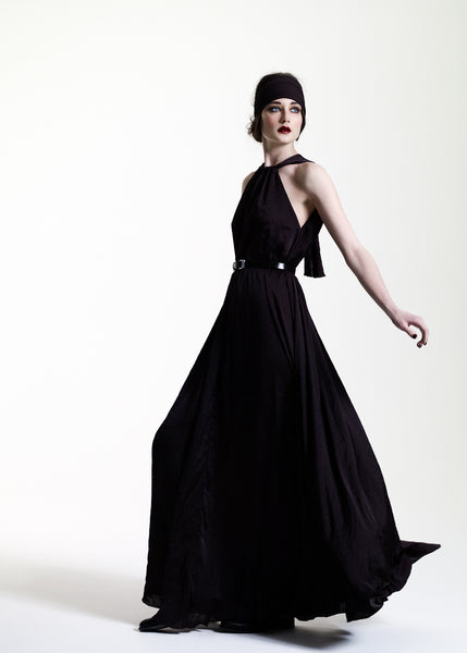 La Petite S***** AW11 black satin maxi dress