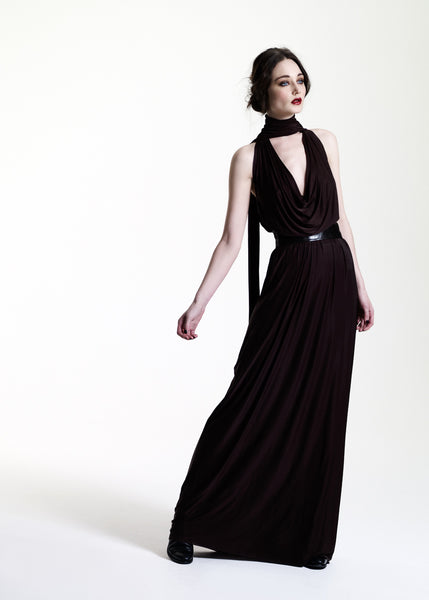 La Petite S***** AW11 jersey cowl neck maxi dress