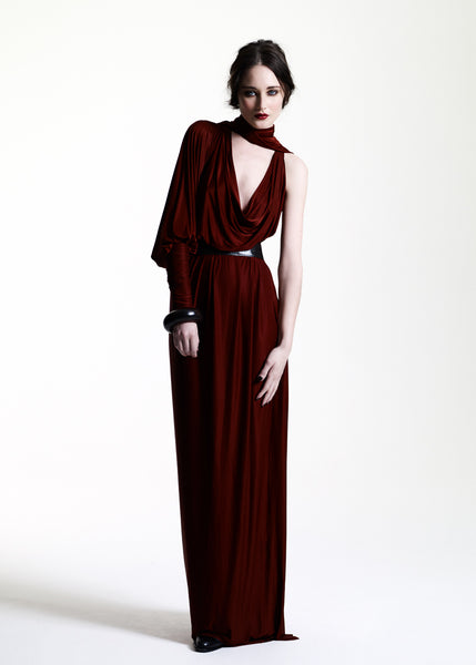 La Petite S***** AW11 burnt umber maxi jersey dress