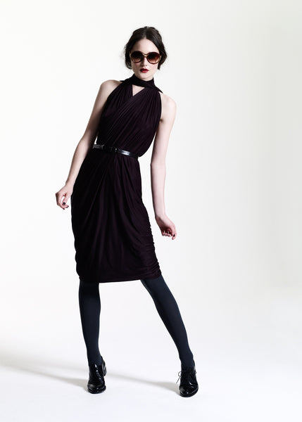 La Petite S***** AW11 black chocolate halter neck dress
