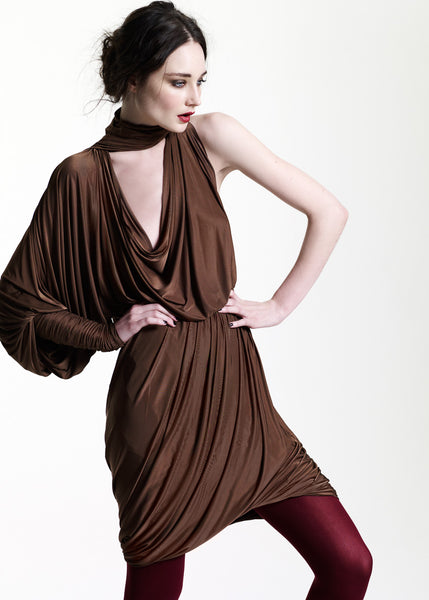 La Petite S***** AW11 asymmetric draped jersey dress