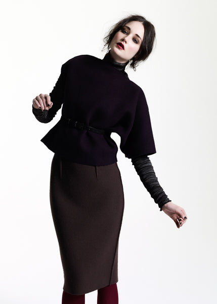 La Petite S***** AW11 asymmetric wool tunic in black