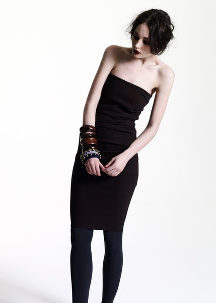 La Petite S***** AW11 black chocolate bandeau dress
