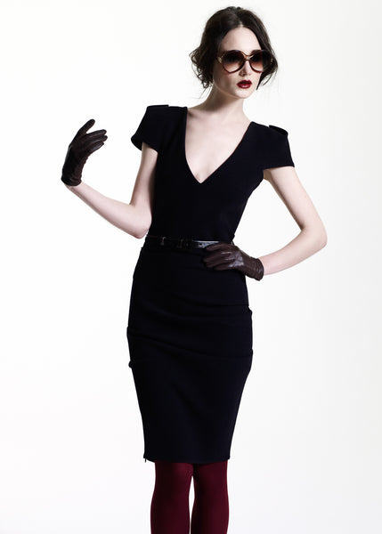 La Petite S***** AW11 v neck black dress