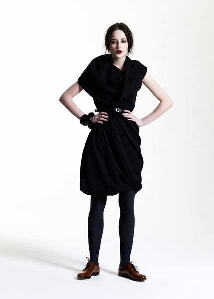 La Petite S***** AW11 black shawl collar dress