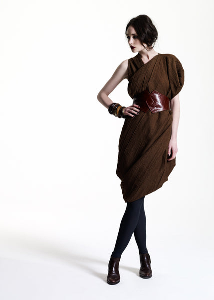 La Petite S***** AW11 tobacco wool dress with belt
