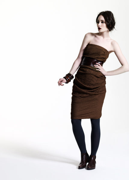 La Petite S***** AW11 bandeau dress is tobacco