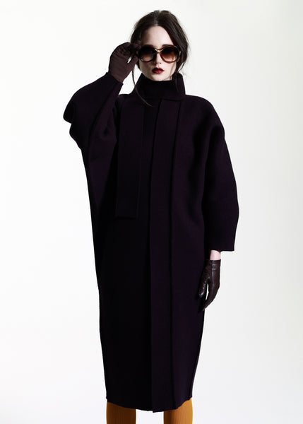 La Petite S***** AW11 cocoon coat in black cashmere
