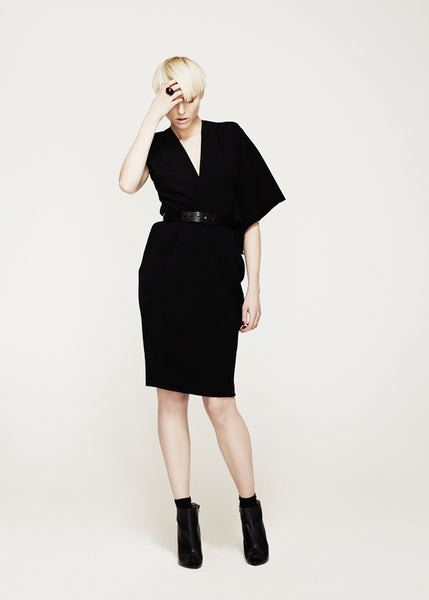 La Petite S***** AW12 asymmetric black wool dress