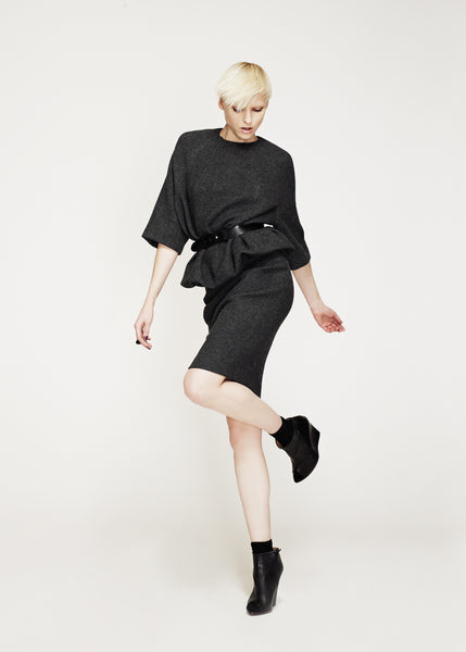 La Petite S***** AW12 charcoal wool belted tunic