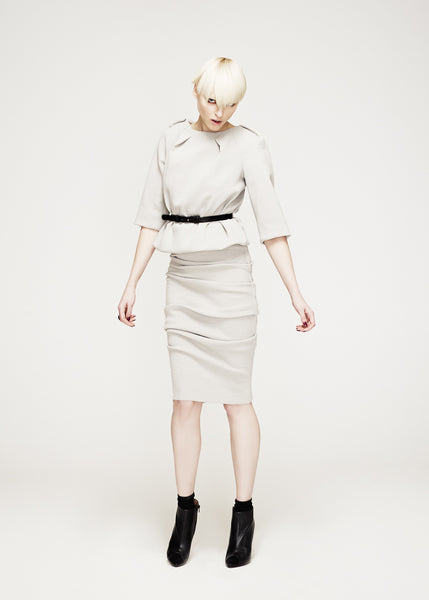 La Petite S***** AW12 stretch wool outfit in dove grey