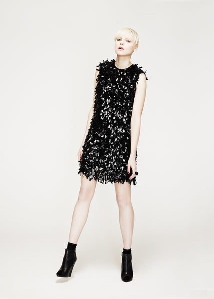 La Petite S***** AW12 tassle shift dress in black