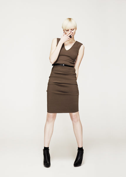 La Petite S***** AW12 v neck vest dress in wool