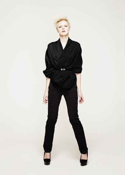 La Petite S***** AW12 satin wrap top with belt