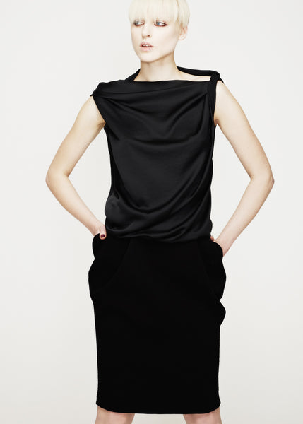 La Petite S***** AW12 satin vest top with twist detail