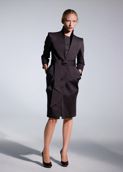 La petite S***** anthracite belted coat SS09