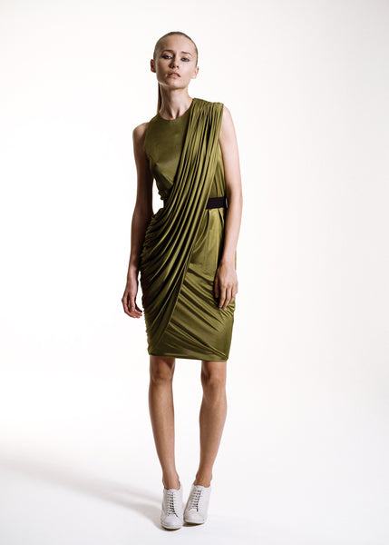 La Petite S***** SS10 lime sash jersey dress
