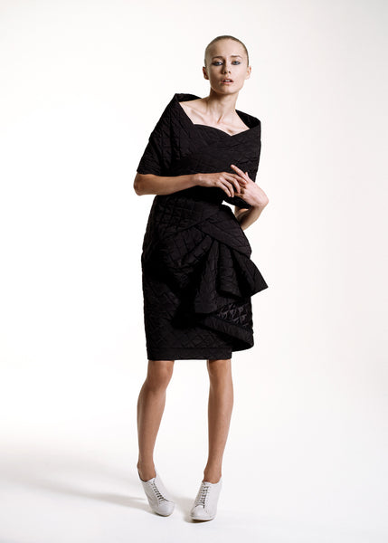 La Petite S***** SS10 quilted black dress with wrap
