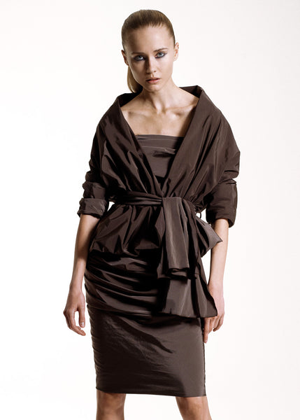 La Petite S***** SS10 taffeta wrap jacket and dress in olive