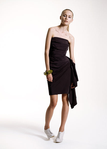 La Petite S***** SS10 black bandeau dress with drape
