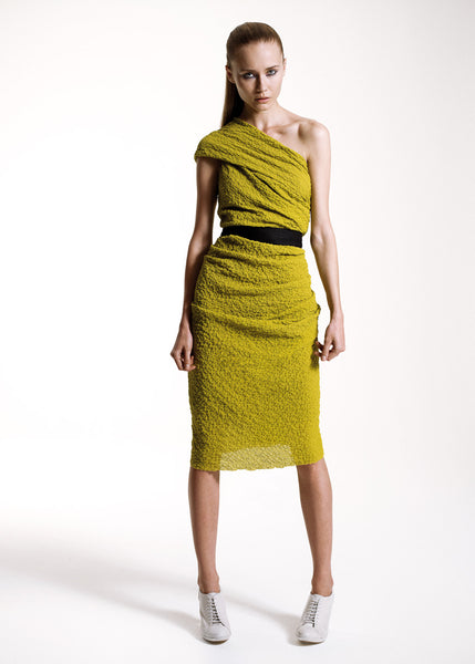 La Petite S***** SS10 yellow one shoulder dress