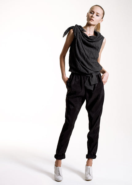 La Petite S***** SS10 anthracite knot top and trousers