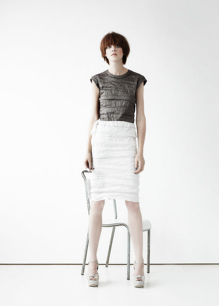La Petite S***** SS11 crinkle silk top and skirt