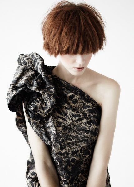 La Petite S***** SS11 animal print one shoulder dress