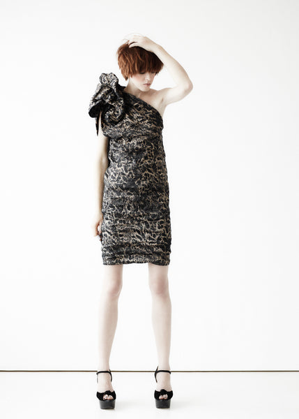 La Petite S***** SS11 one shoulder animal print dress