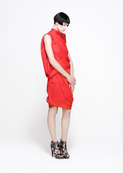 Red top and skirt by La Petite S***** SS11