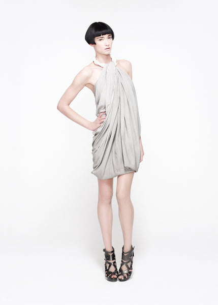 Mottled silk halter neck dress La Petite S***** SS11