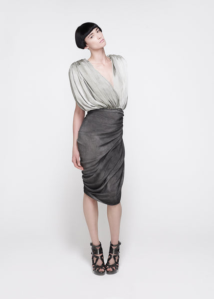 La Petite S***** SS11 mottled silk draped top and skirt