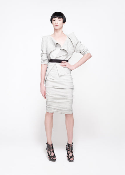 La Petite S***** SS11 duck egg linen jacket and skirt