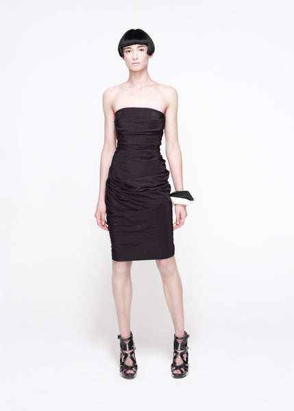 La Petite S***** SS11 black chocolate bandeau dress