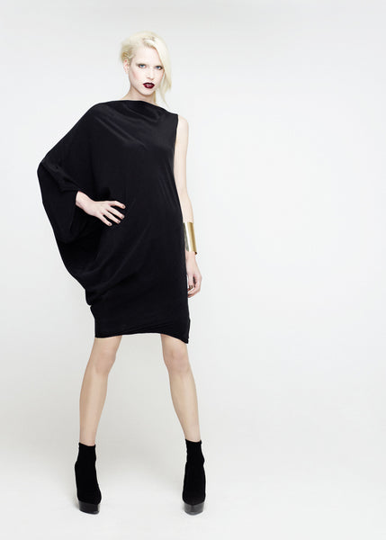 La Petite S***** SS12 black silk crepe sack dress
