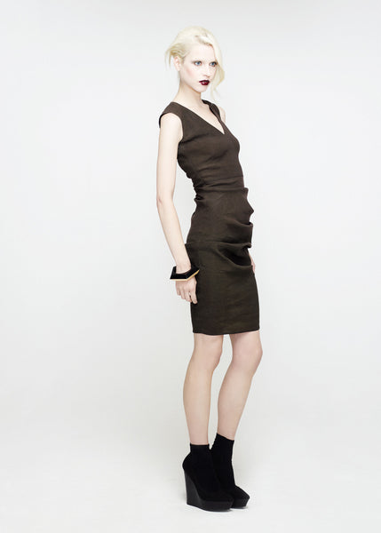 La Petite S***** SS12 mud vest dress with v neck