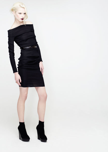 La Petite S***** SS12 black off the shoulder dress