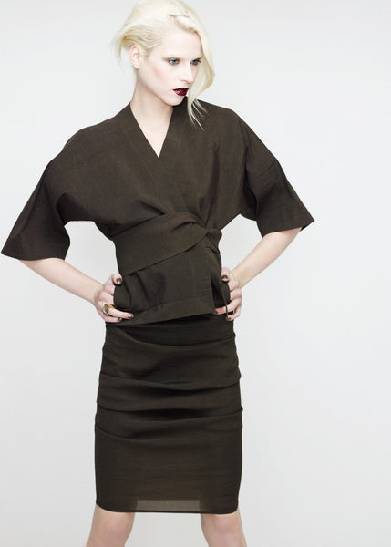 La Petite S***** SS12 stretch linen jacket and skirt