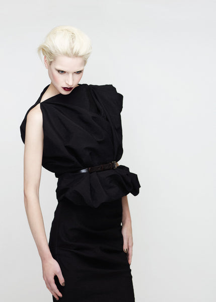 La Petite S***** SS12 black belted tunic and skirt