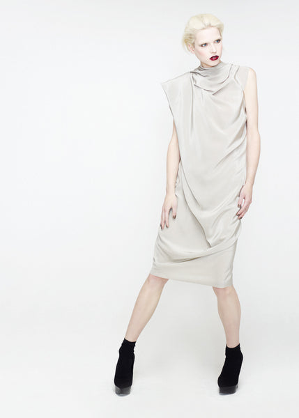 Silk crepe dress in duckegg by La Petite S***** SS12