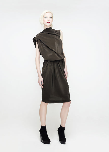 La Petite S***** SS12 mud silk crepe dress