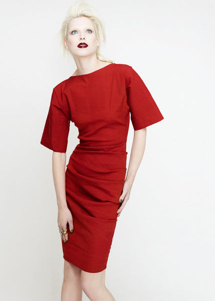 La Petite S***** SS12 red dress with wide sleeves